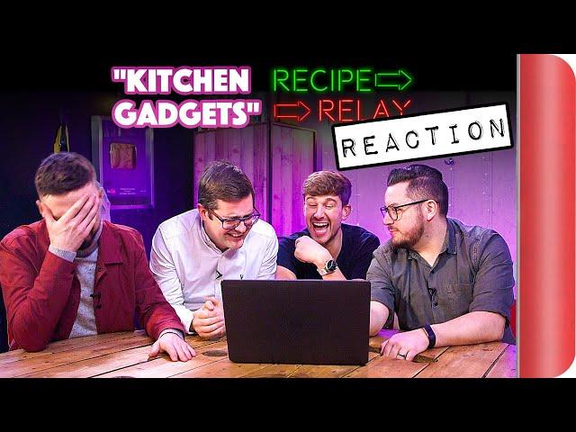 REACTING to KITCHEN GADGETS Recipe Relay Video thumbnail