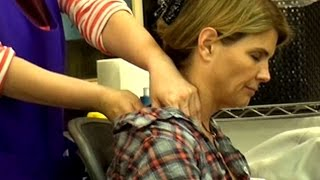 Lori Loughlin Gets A Much Needed Massage