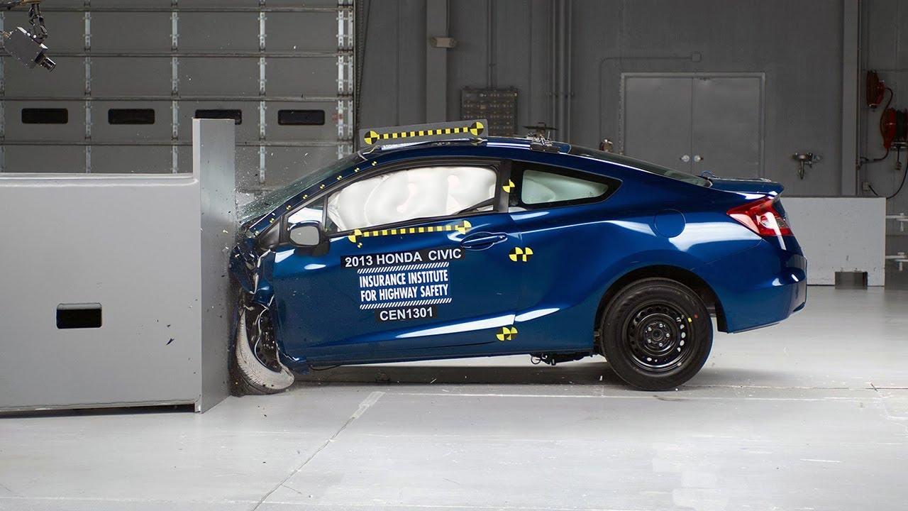 2013 honda civic 2 door small overlap iihs crash test for 08 honda civic 2 door
