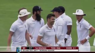 James Anderson at his best, showing how to swing ball. England vs WI