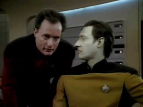 Star Trek: The Next Generation, Season Three, Episode Thirteen. Deja Q. This is the near to end, end scene in which Q dressed in a Sombrero and weilding a tr...