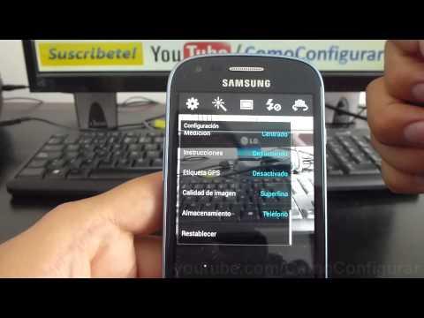 Cómo guardar fotos en la MicroSD en Android samsung Galaxy S3 mini i8190 español Full HD