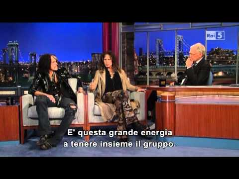 Steven Tyler e Joe Perry al David Letterman (sub ita)