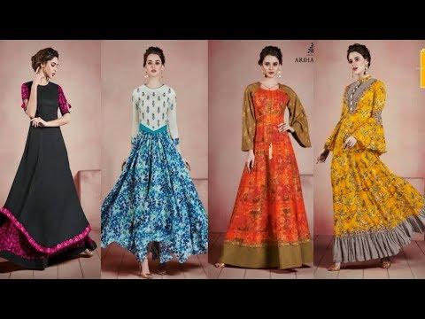 Designer Long Kurti Designs|Latest Party Wear Kurti Designs|Latest Designer Kurti 2018|TrendyIndia10