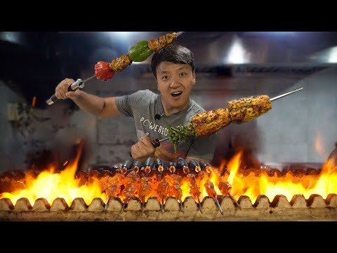 Download AMAZING All You Can Eat  BBQ KEBAB Buffet in India! HD Mp4 3GP Video and MP3
