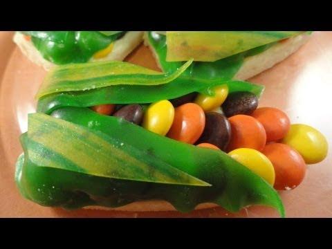 Colourful Corn Cookies