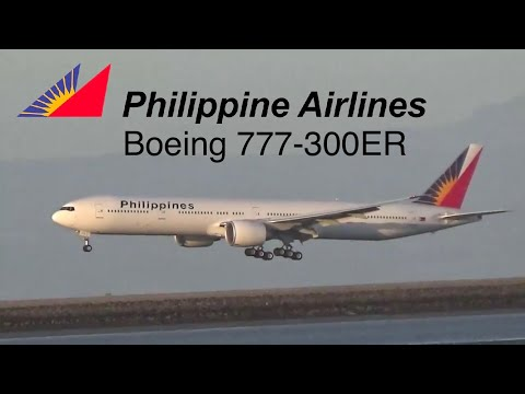 Philippine airlines Boeing 777-300ER RP-C7772 landing at San Francisco international airport