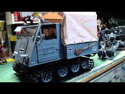 1/6th scale RC WWII German RSO/3 Action Figures Vehicles.