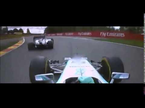 Rosberg vs Hamilton Belgium GP 2014