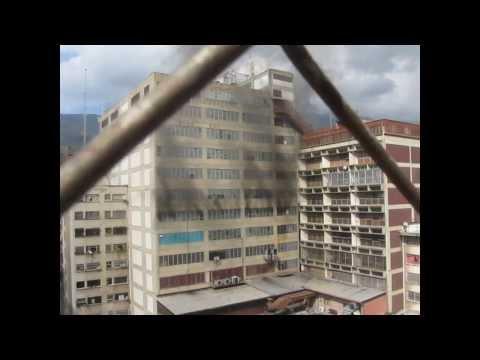Incendio del Edificio Wrangler Av. Panteón 27/02/2014