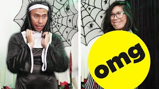 Couple Swaps Men And Women's Halloween Costumes
