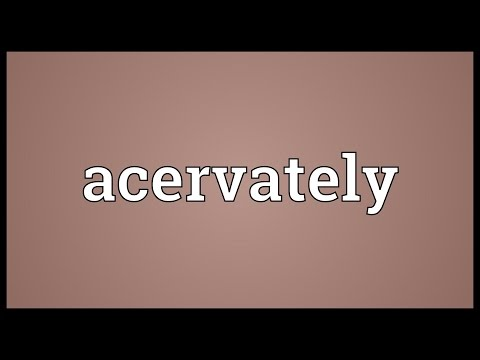 Header of acervately