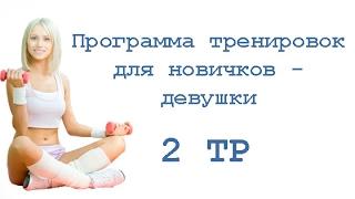 Программа тренировок для новичков - девушки (2 тр)