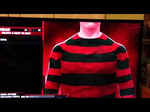 WWE 2K14 Freddy Krueger CAW video(PS3)