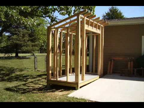How to build a lean to style storage shed youtube for Building a storage shed