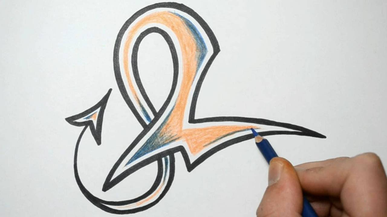 How to Draw Alphabet Letters in Graffiti - L - YouTube