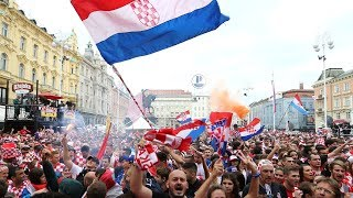 France v Croatia : Fans gather in Zagreb for World Cup final - live!
