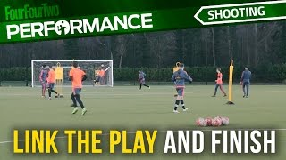 Soccer shooting exercise | Link the play and finish drill | Swansea City Academy