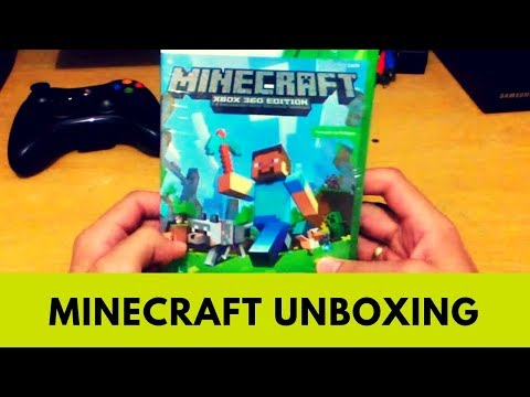 Minecraft XBOX 360 Edition Unboxing