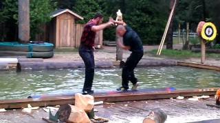 Jack's Lumberjack Show log roll competition