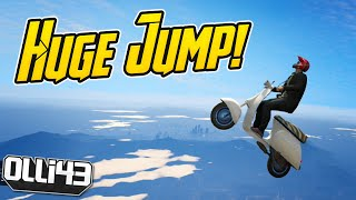 GTA 5 Online: Huge Faggio Jump World Record? (Grand Theft Auto V)