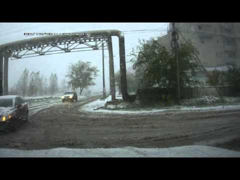 Зима пришла в Невинномысск неожиданно 25 10 2014