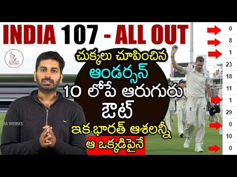 India vs England 2nd Test Analysis | India 107 allout | Will India Win from now ? Eagle Media Works