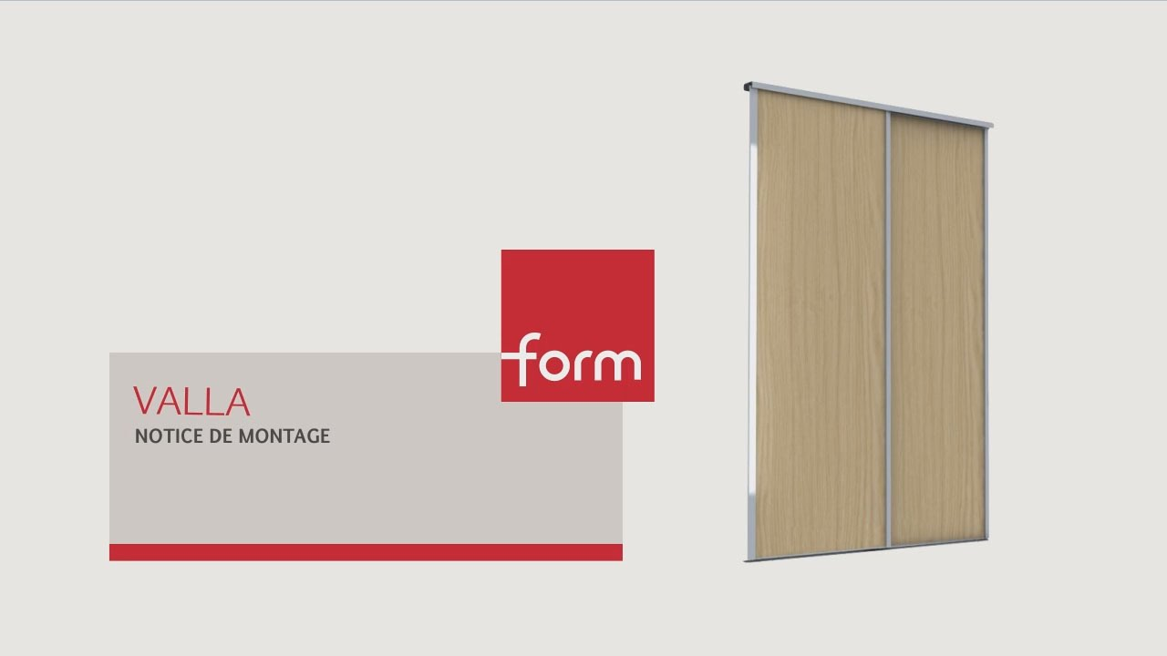 Notice de montage des portes de placard valla youtube - Porte placard castorama ...