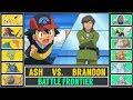 Ash vs. Brandon (Pokémon SunMoon) - Battle Frontier