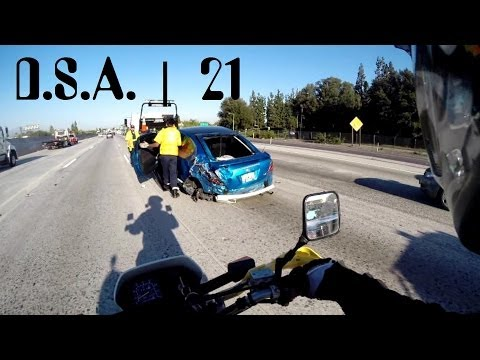 Insane Lane Splitting Race With Mongols Mc, Crazy Car Crash, And L.a. To S.b. video