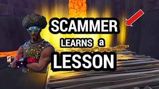 SCAMMER Gets Taught A LESSON - Fortnite Save The World (Scammer Gets Scammed) (MUST WATCH)