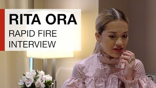 How many questions can Rita Ora answer in 60 seconds?