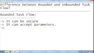 Difference between bounded and unbounded taskflows in ADF