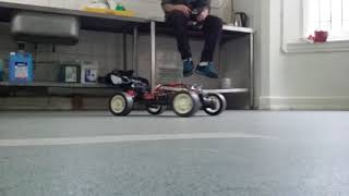 Rc drifting. Home made drift wheels. Rc buggy