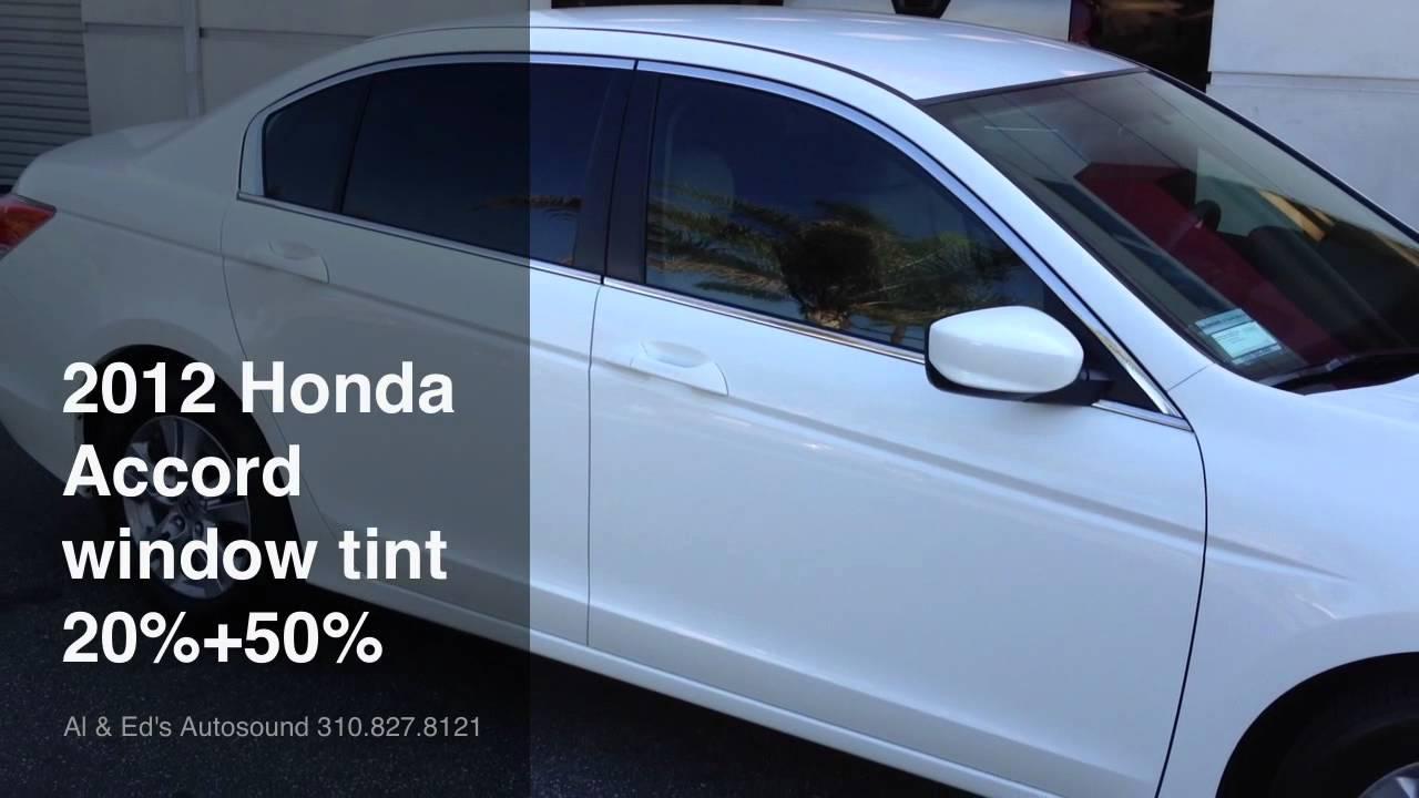 2012 HONDA ACCORD WINDOW TINT ASWF WINDOW FILM - YouTube