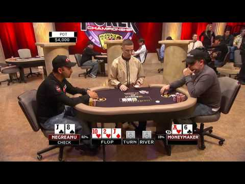 National Heads Up Poker Championship 2009 Episode 1 3/5 Video