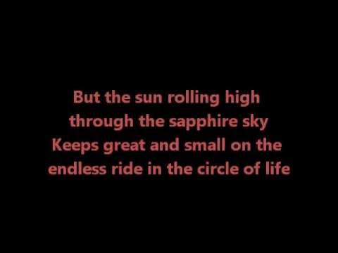 Circle of life - Elton John