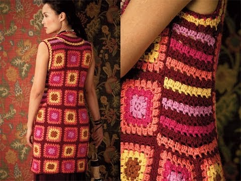 Crochet Granny Square Dress Patterns : #31 Granny Square Dress, Vogue Knitting Crochet 2012 - YouTube