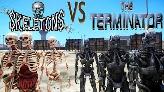 Terminator Army vs Skeleton - Epic Battle