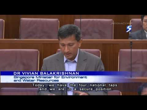 Dr Vivian announces Deep Tunnel Sewerage System & desalination plant in Tuas - 12Mar2013