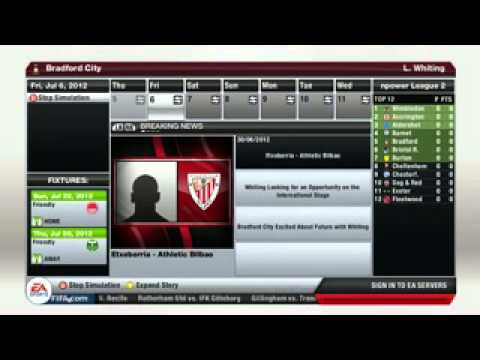 Fifa 13 Career Mode| Bradford City (Episode 1)