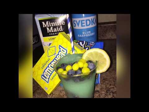 Sour Blue Frozen Alcohol Drink