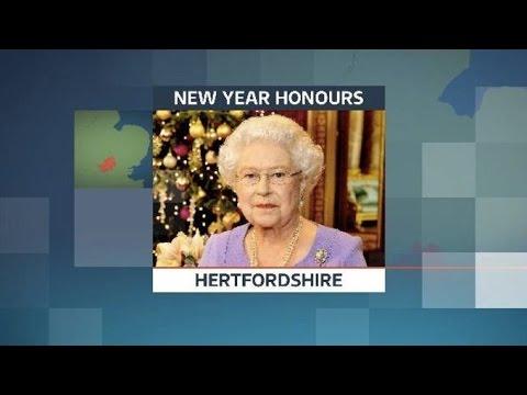 Queen Elizabeth II Honours Awards Hertfordshire New Year 2015