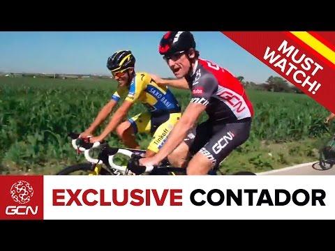 Alberto Contador Exclusive Interview - GCN Rides With Contador Before The Vuelta A España