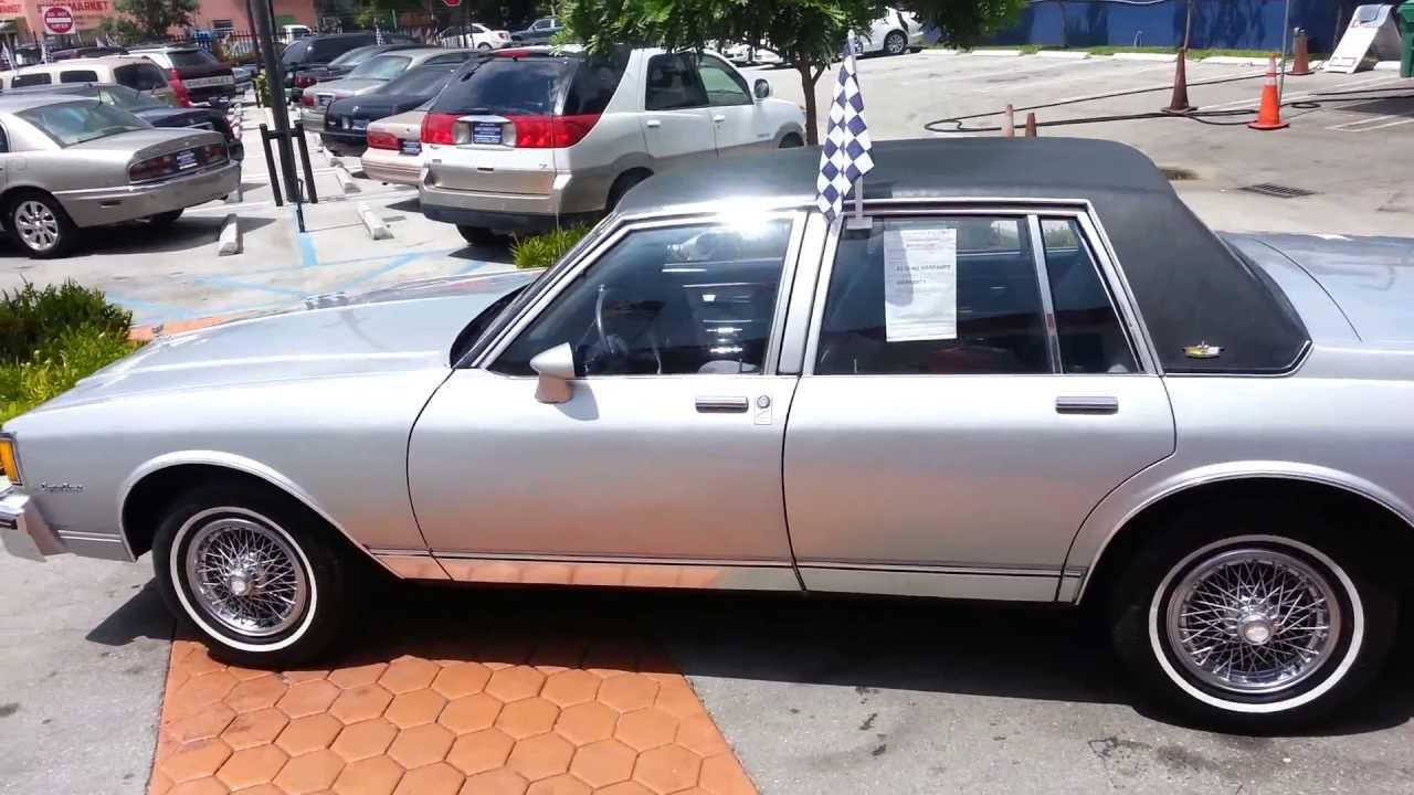 1985 chevrolet caprice classic for sale karconnectioninc com miami fl youtube