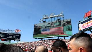 Fenway Park National Anthem & Flyover @ the 100 Year Anniversary Game