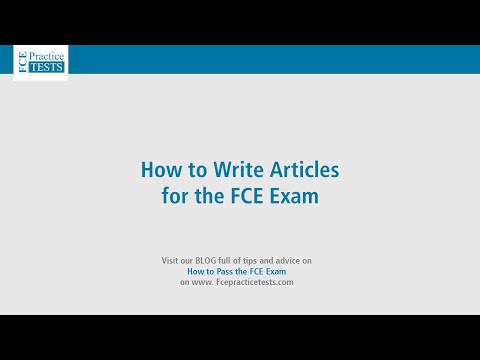 How to Write Articles for the FCE