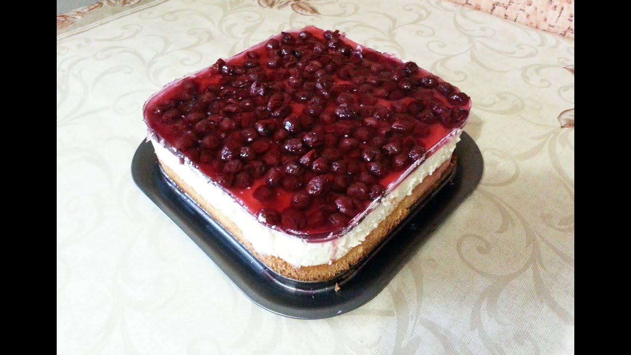 Бисквитный торт с вишней источник