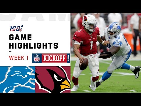 Lions vs. Cardinals Week 1 Highlights  NFL 2019