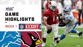 Lions vs. Cardinals Week 1 Highlights | NFL 2019